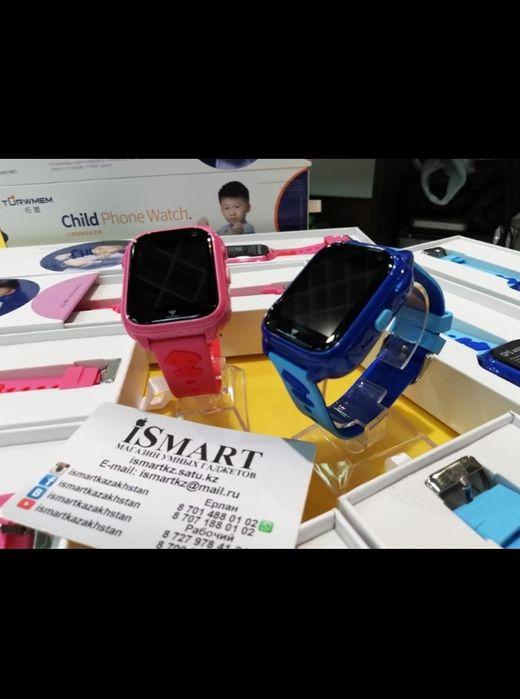 Водонепроницаемые GPS детские умные часы с камерой новогодний gif