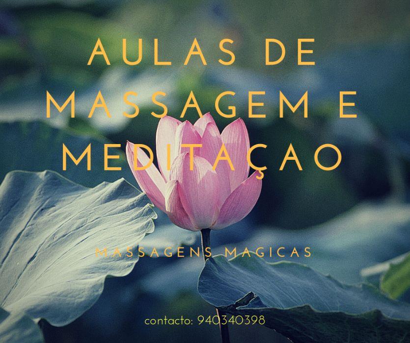 Aulas de Massagem e meditacao