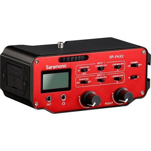 Saramonic SR-PAX2, mixer audio activ cu doua canale, cu preamplificato