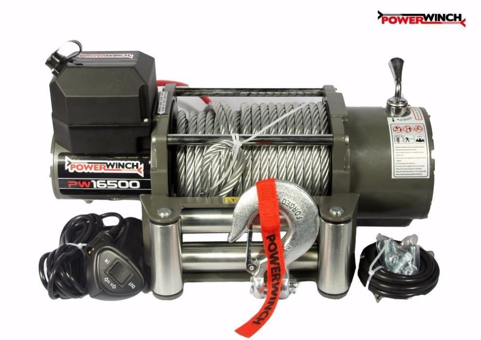 Лебедка PowerWInch 16500lb - 7500 kg ПЪТНА ПОМОЩ 24V