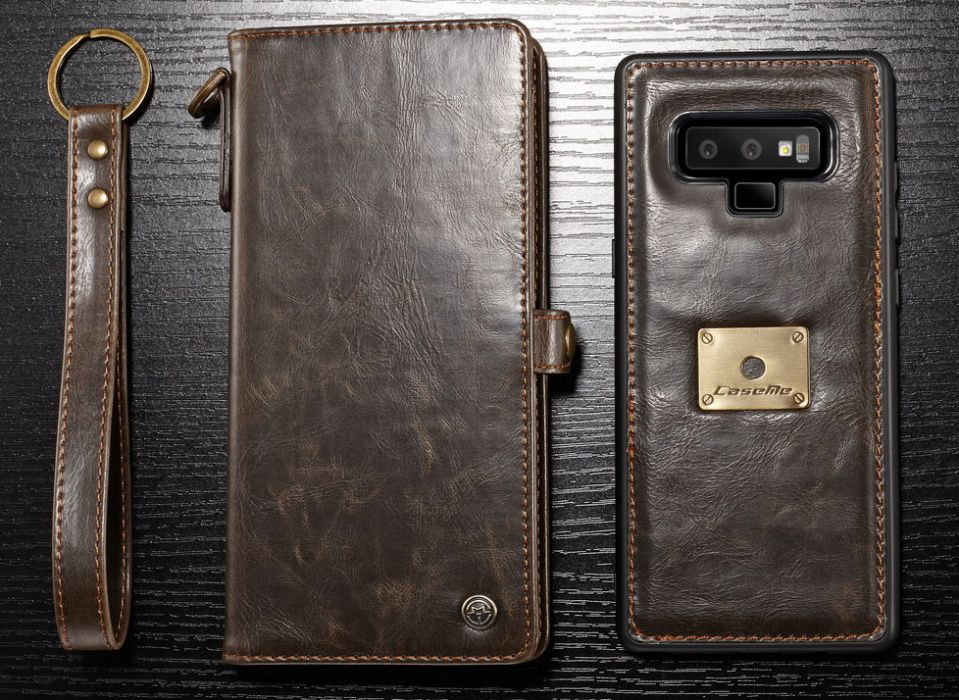 Husa piele portofel multifunctionala,carduri,bani,casti Samsung Note 9