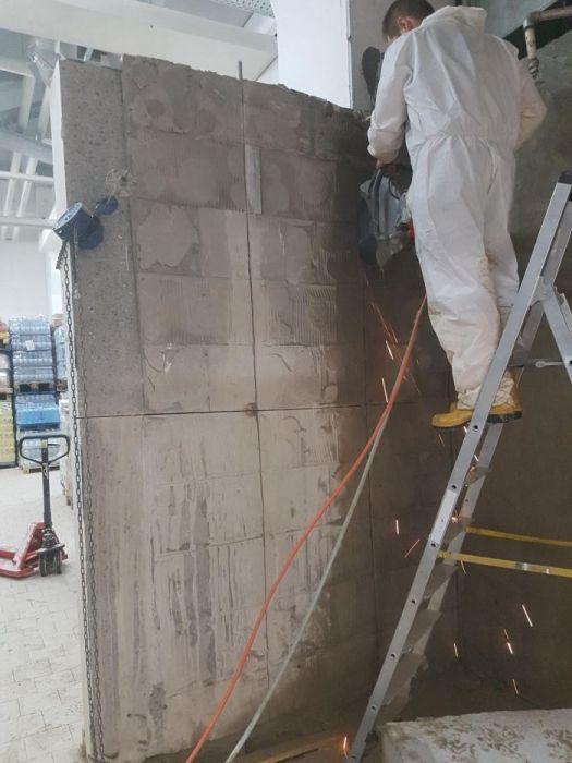 taieri pereti beton armat folosind tehnica diamantata,demolări control