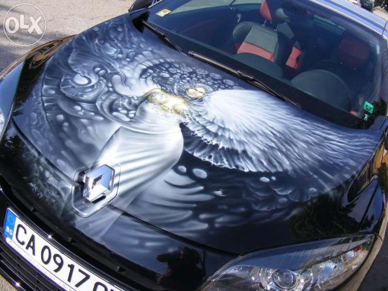 Аерография. Рисуване на коли, мотори,стени, каски и др.