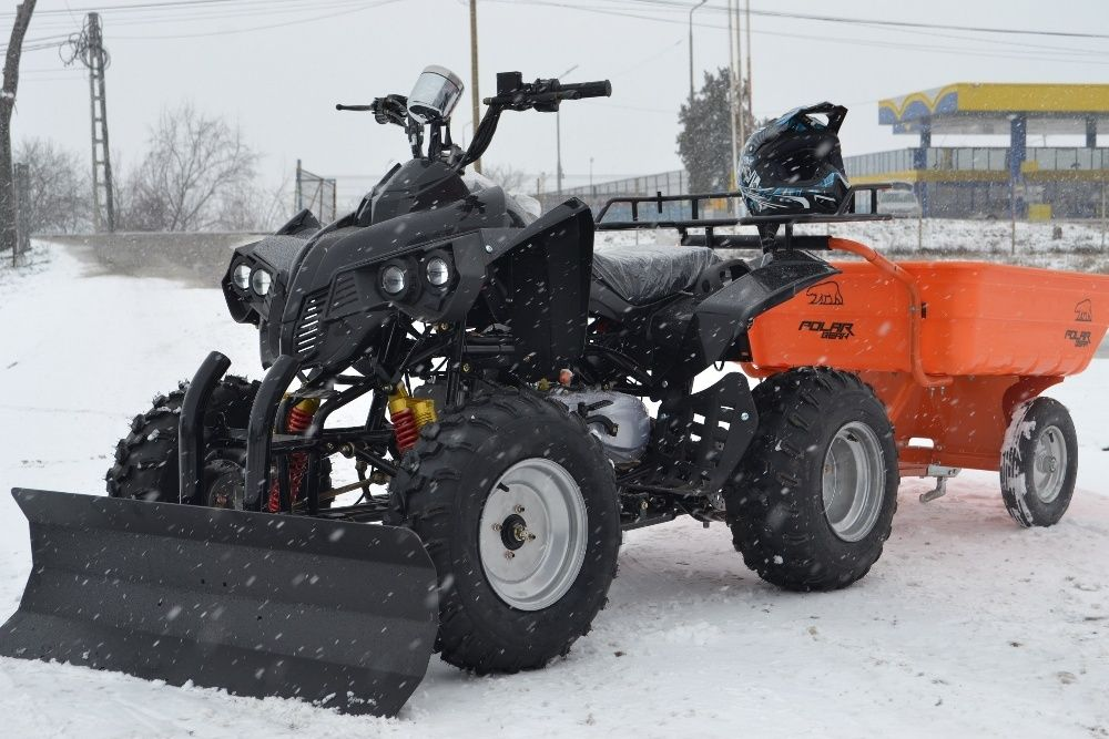 ATV 250cc Automat MegaWarrior #NEGRU Import Germania, Casca BONUS