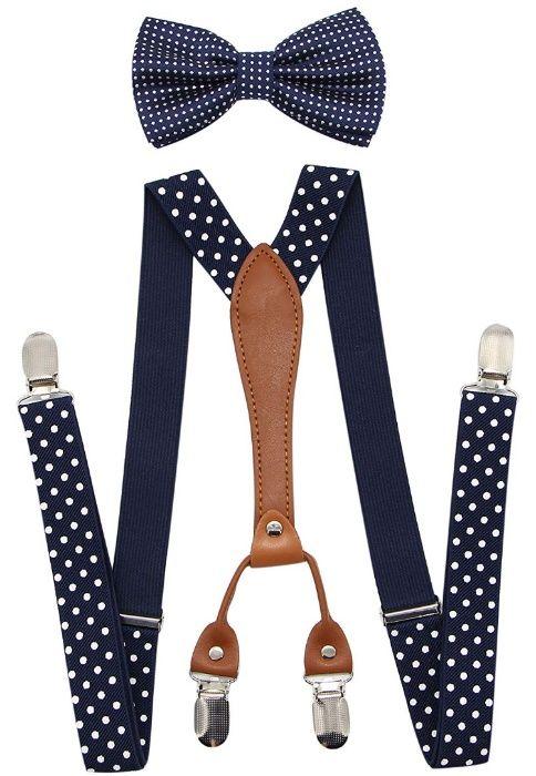 Suspensórios e gravata borboleta Masculino