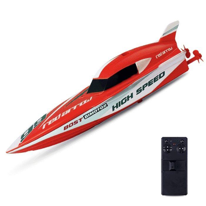 Barca de viteza cu telecomanda,acumulator,2 motoare,distractie pe apa!