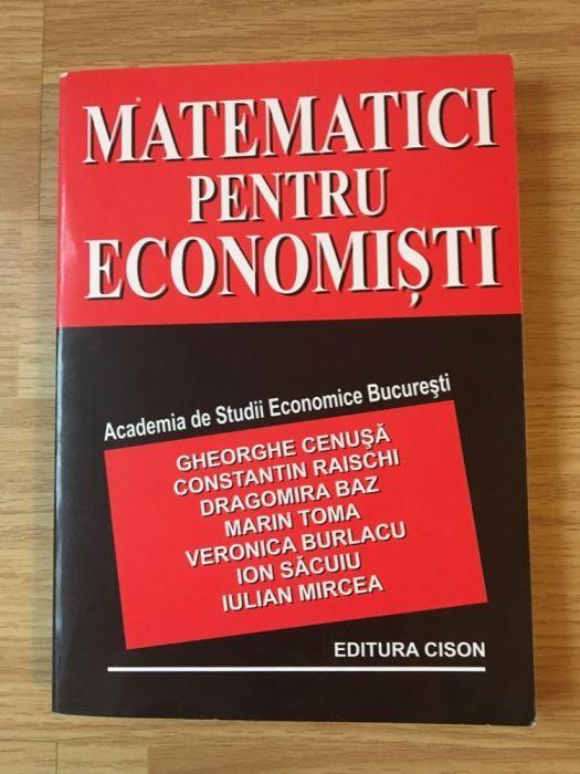 Matematici pentru economisti - Gheorghe Cenusa