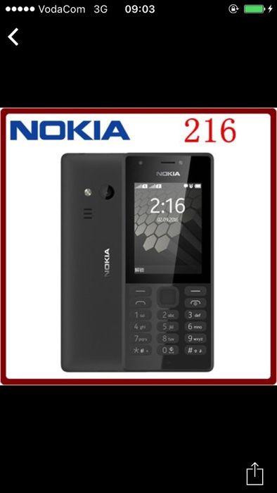 Nokia 216 32g na caixa, com todos acessórios