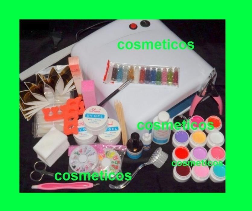Kit unghii false geluri colorate lampa uv+ GHID - KIT COCO