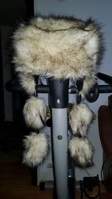 Caciula iarna blana sintetica