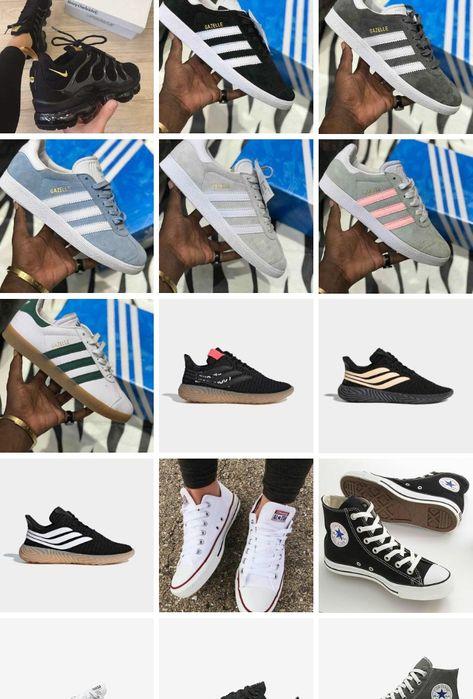 Adidas e all star disponíveis e várias outras marcas