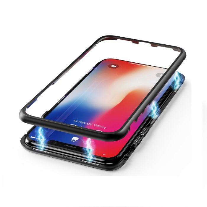 360 магнитен кейс с алуминиева рамка за iPhone X, XS, XS MAX