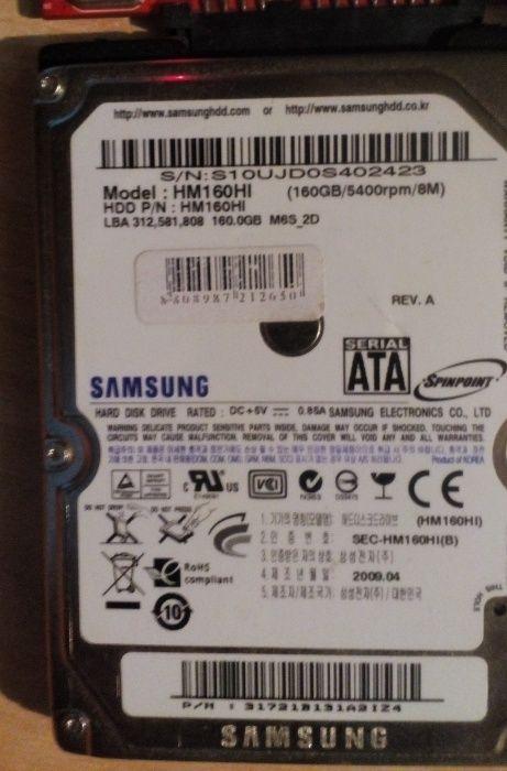 hard disk laptop sata 160