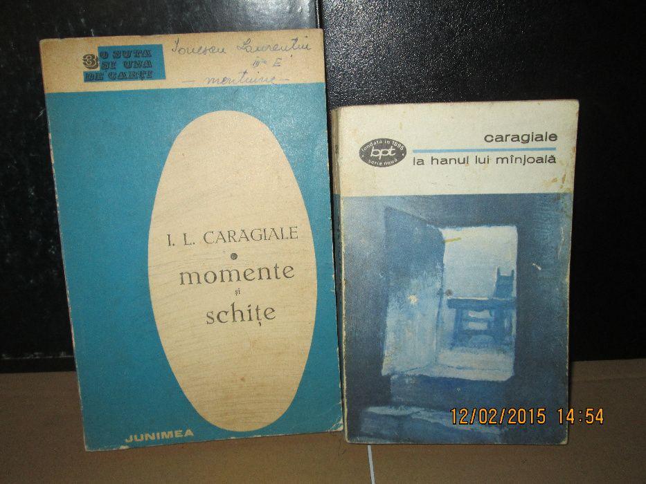 """I.L.Caragiale - """"Momente si schite """" si """"Nuvele si povestiri"""""""