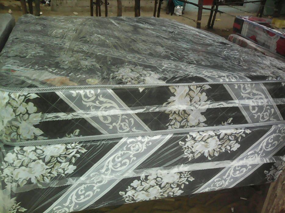 Cama normal casal colchão e base conjunto completo
