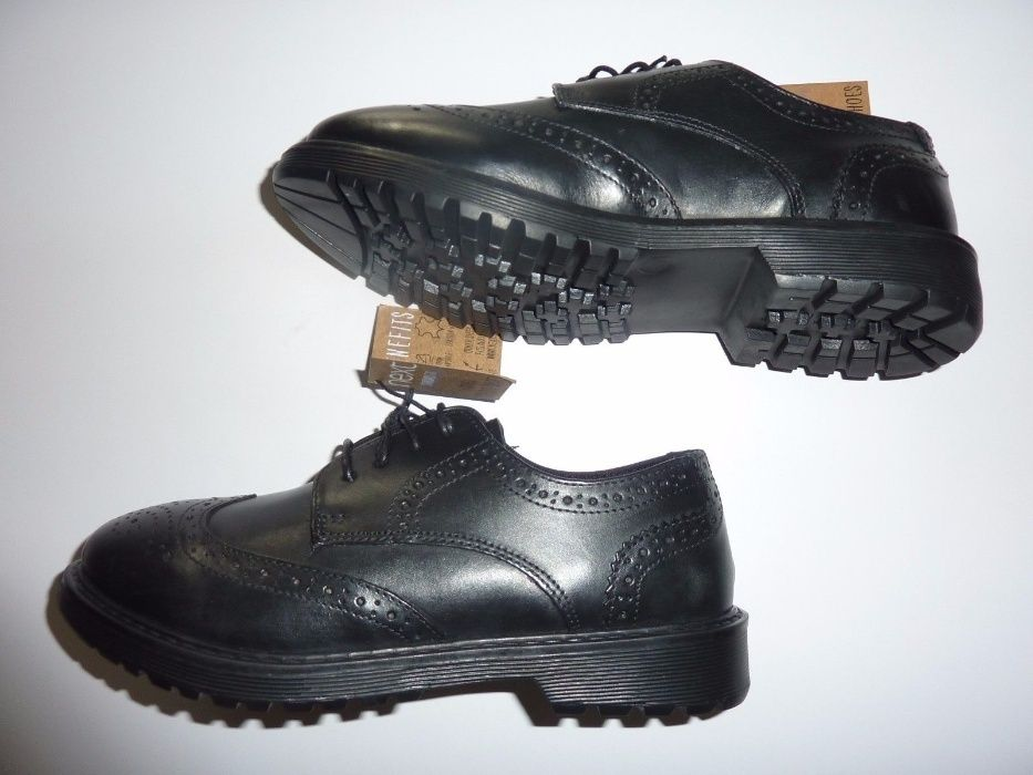 Pantofi copii toamna iarna noi piele neagra nr 30.5 -39 marca Next UK