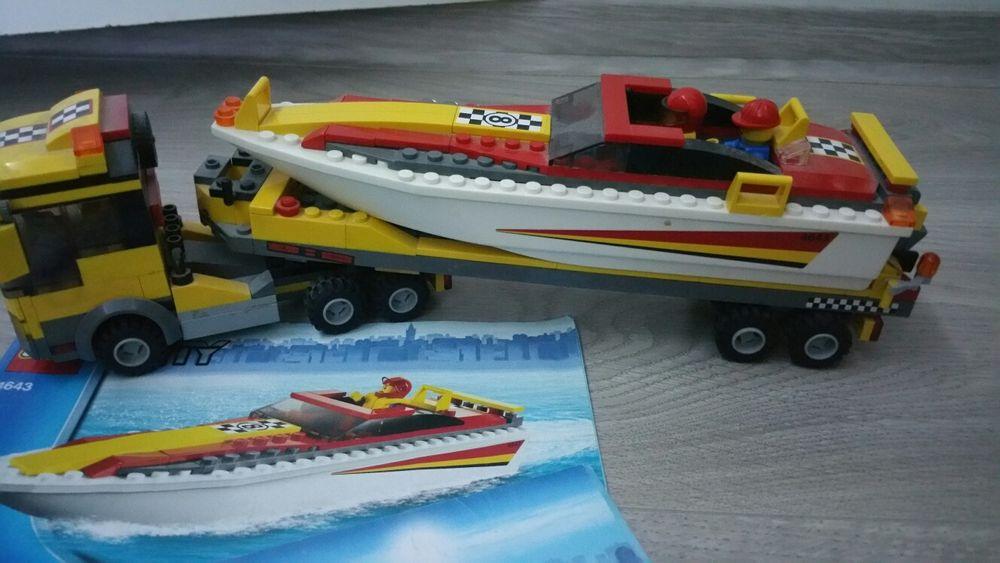 Lego city 4643 - Transportator barcă de viteza