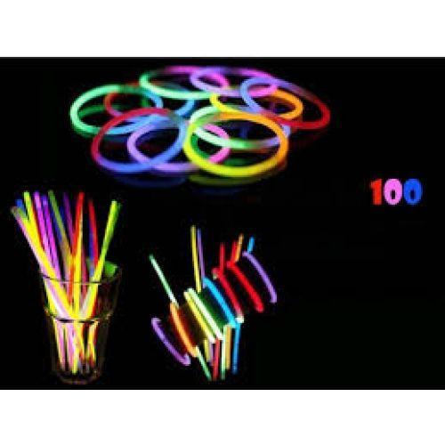 Set Cutie 100 Bambine Fosforescente Gen Bratara Light Stick Concerte