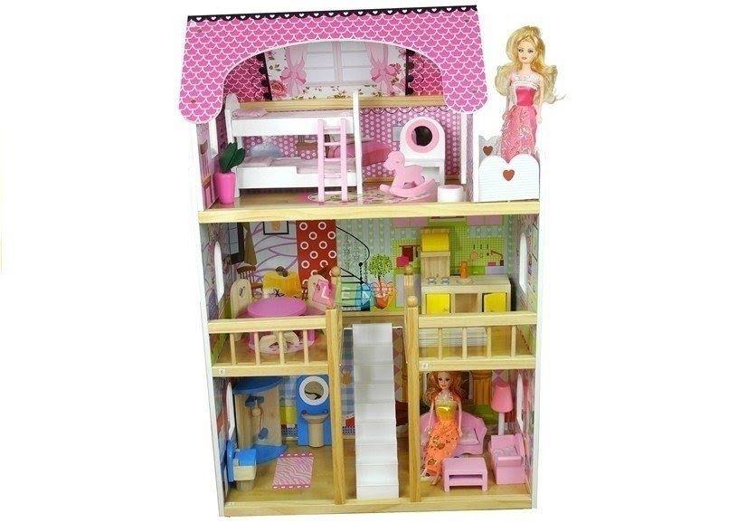Casa de papusi din lemn cu 5 camere Melissa