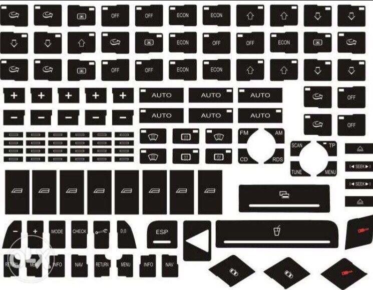 Stickere butoane Audi / VW