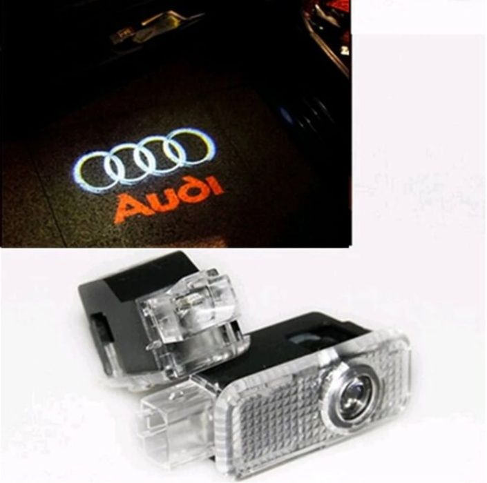 Set lampi proiectoare - logo pentru portiere Audi A4, A6 A8 Q5 Q7