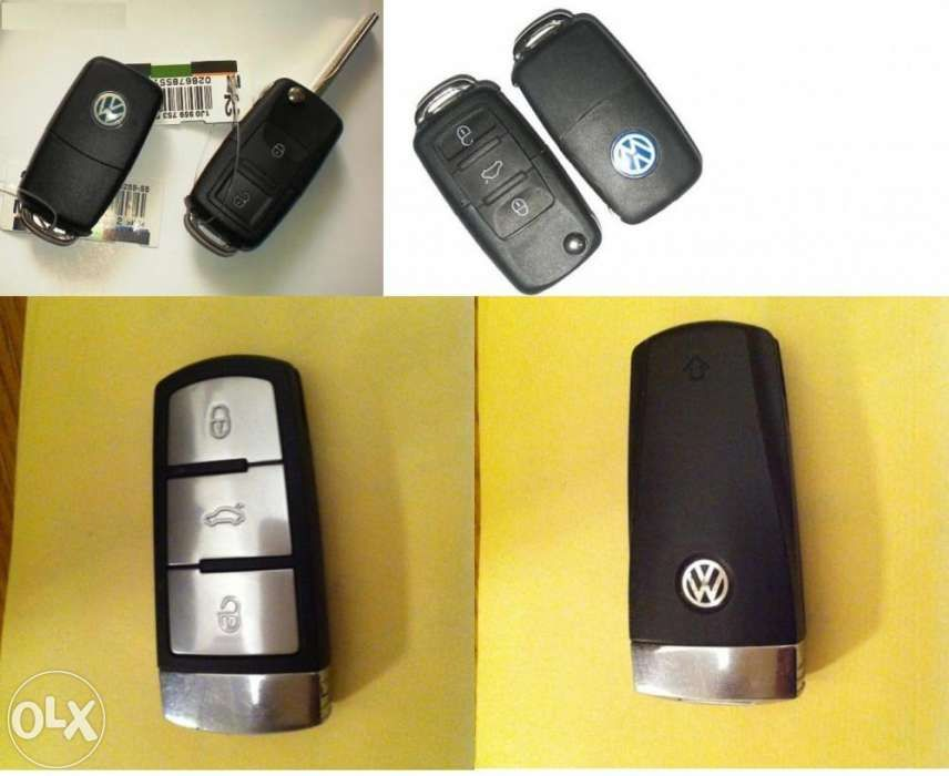 Cheie VW Audi Seat Skoda cu Transponder Chip ID48 Megamos Crypto ID48