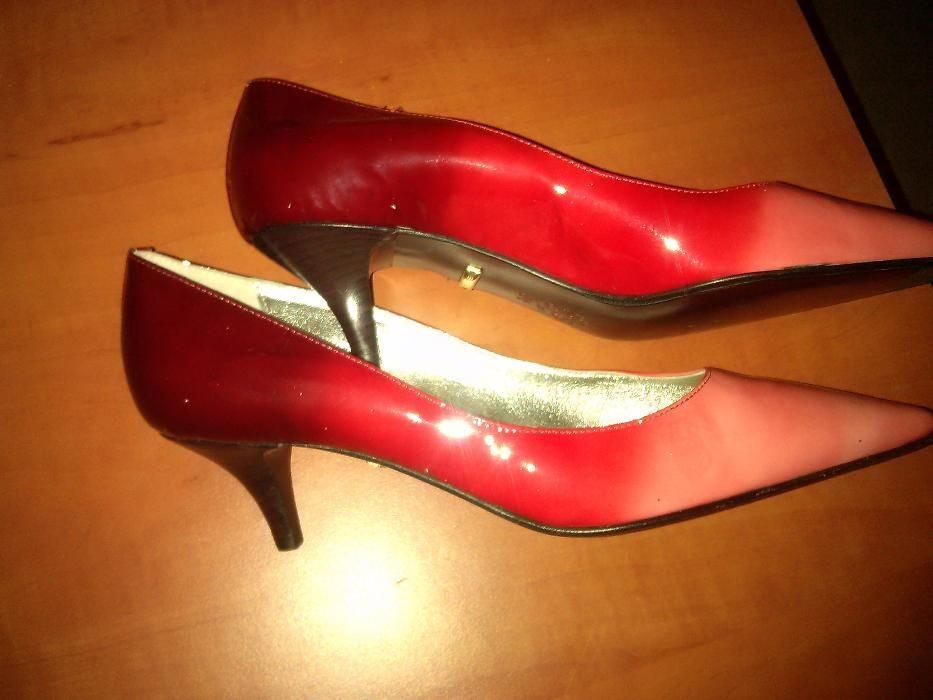 Pantofi dama noi, din piele, rosii, marimea 38