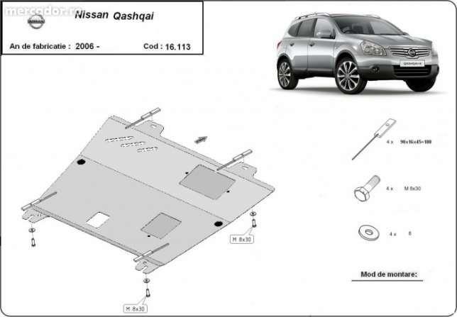 Scut metalic pentru motor Nissan Qashqai 2006-2013 - otel 2mm