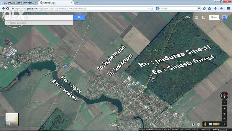 Vand (schimb) terenuri in Sinesti Ialomita