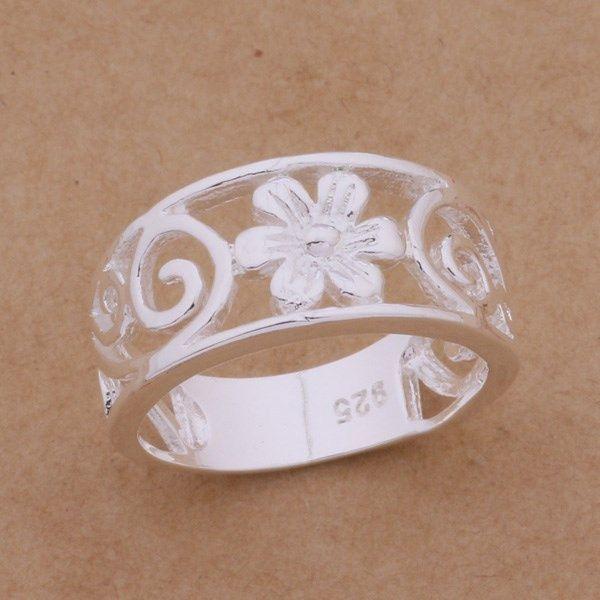 ARG230,inel argint 925, nou si marcat, model superb,floare