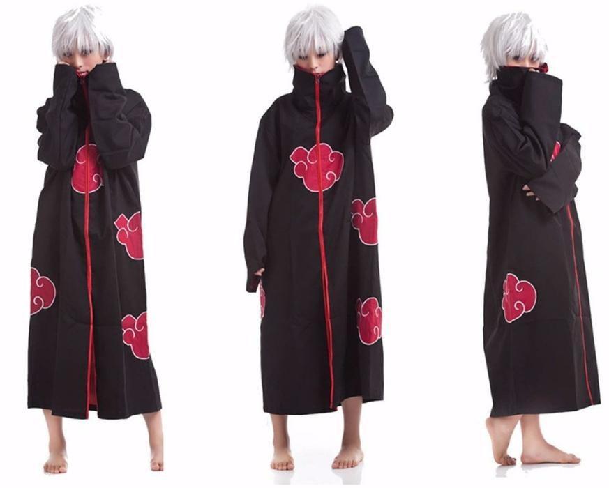 Costum Naruto Itachi Akatsuki Uchiha Anime Cosplay Halloween +CADOU!
