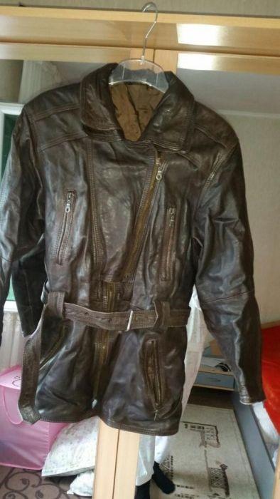 Дамско кафяво естествена кожа яке