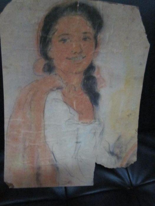 desen foarte vechi ,portret de tiganca