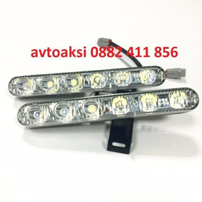 Led-DRL светлини с Лупи 6000к с 6 мощни диода модел P1636