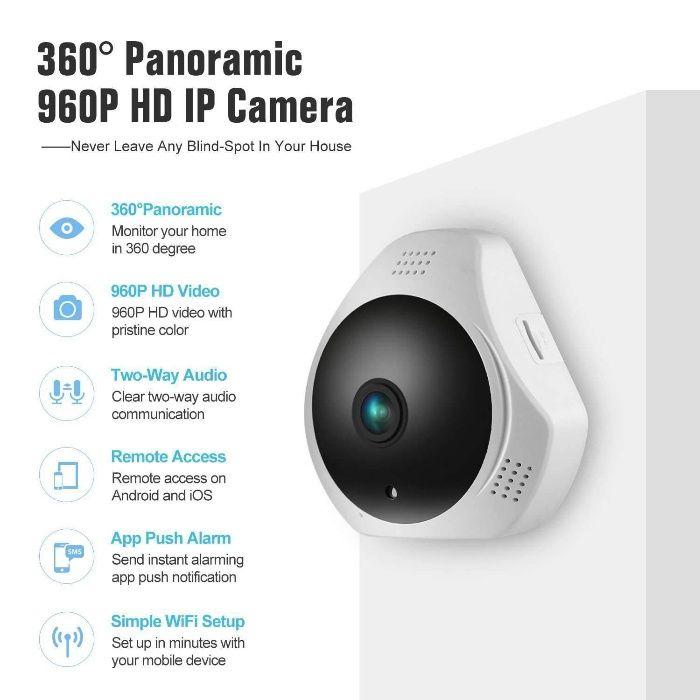 Camera de segurança 360 + alarme
