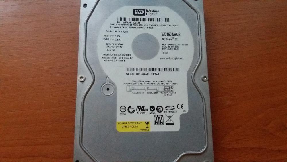 Se vinde HDD Western Digital 160 GB