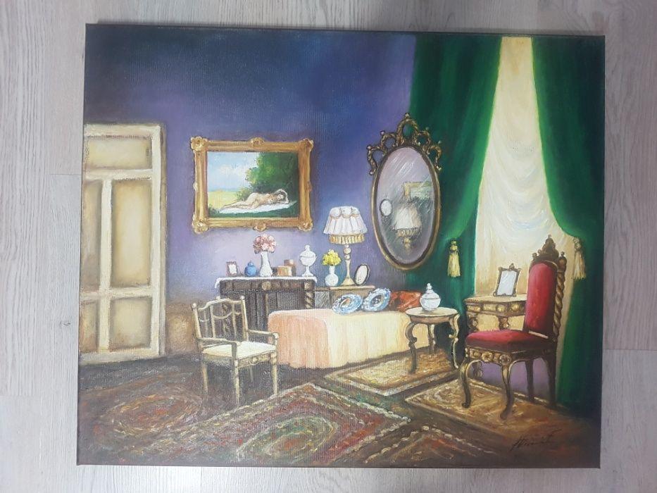 Tablou/Pictura lucrare in ulei, panza pe cadru (356) - F. Dumitru