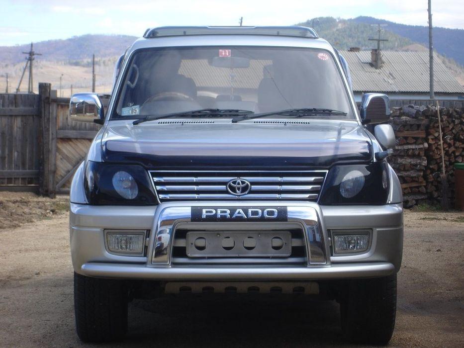 озырёк лобового стекла Дефлектор капота Toyota Land Cruiser Prado 95
