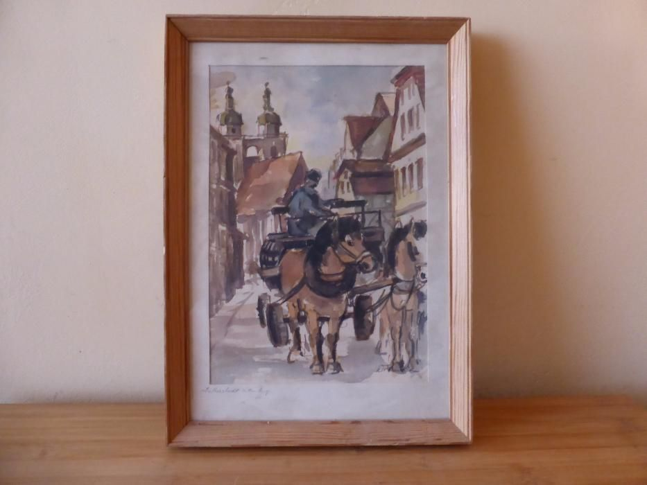 Немска картина акварел