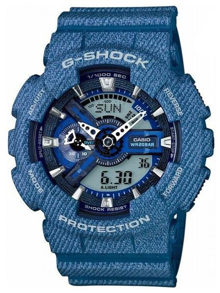 Ceas Casio G SHOCK GA110 DC ,Denim-blue light (ORIGINAL) ,NOU