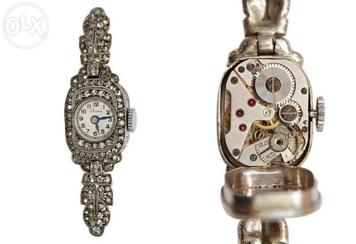 Vand ceas dama art-deco Stowa cu diamante