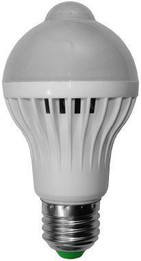 Bec Cu LED, 5W, Dulie E27, Cu Senzor PIR (De Miscare) - Lumina Alb/Rec