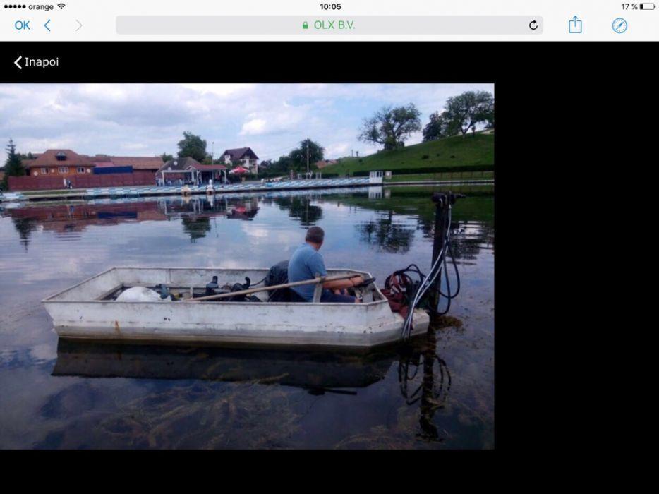 Barca motorizata de tăiat stuf și vegetație lacuri și iazuri
