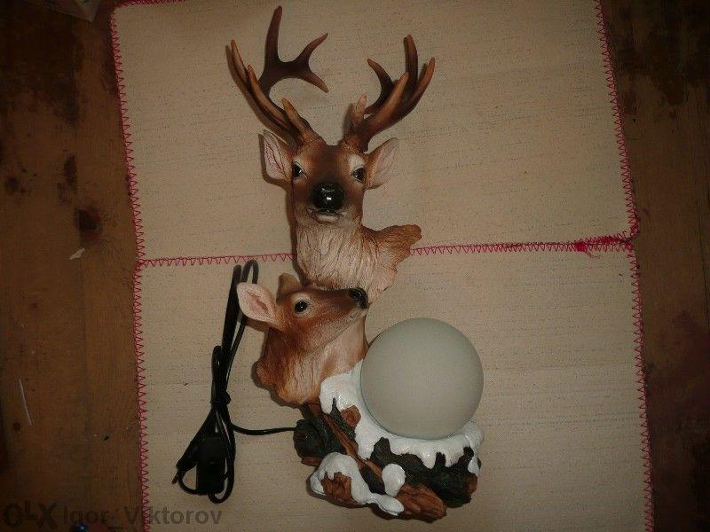 Лампа нощна - елени
