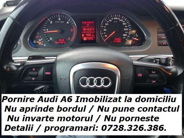 Audi A6 nu pune contactul nu aprinde bordul nu invarte nu porneste