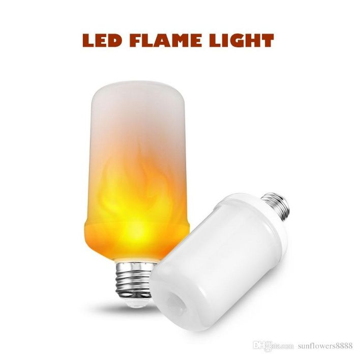 Bec LED Flame cu efect de flacara 7w , E27, baruri, cluburi, terase