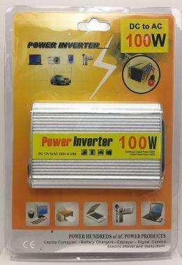Invertor De Tensiune, 12V → 220V - 100W + 5V, USB
