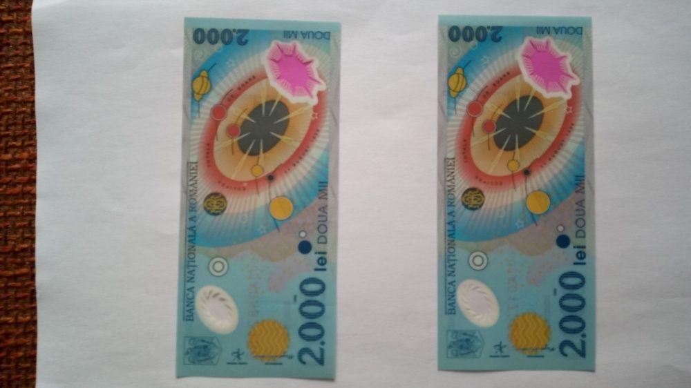 Bancnote Eclipsa: 2000 lei 11 August 1999, seria 003A