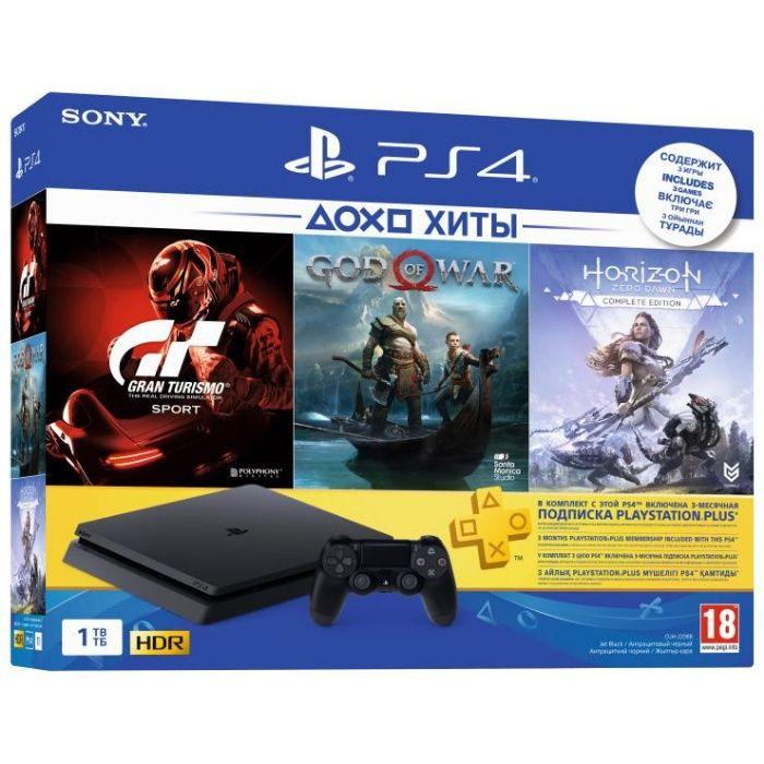 PlayStation 4 SLIM! 1TB 3 Игры Лицензия! PS4 НОВАЯ! ГАРАНТИЯ! 1 Год!