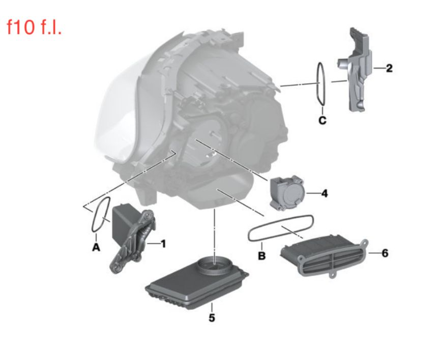 BMW 5 F10 FULL LED ADAPTIVE HEADLIGHTS tms modul droser cornering far